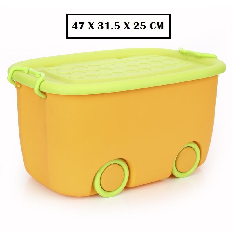 [ READY STOCK ]  Children Toy Building Block Storage Wheel Box Jualan Murah Furniture Perabut Kid Simpanan Kitchen Baby