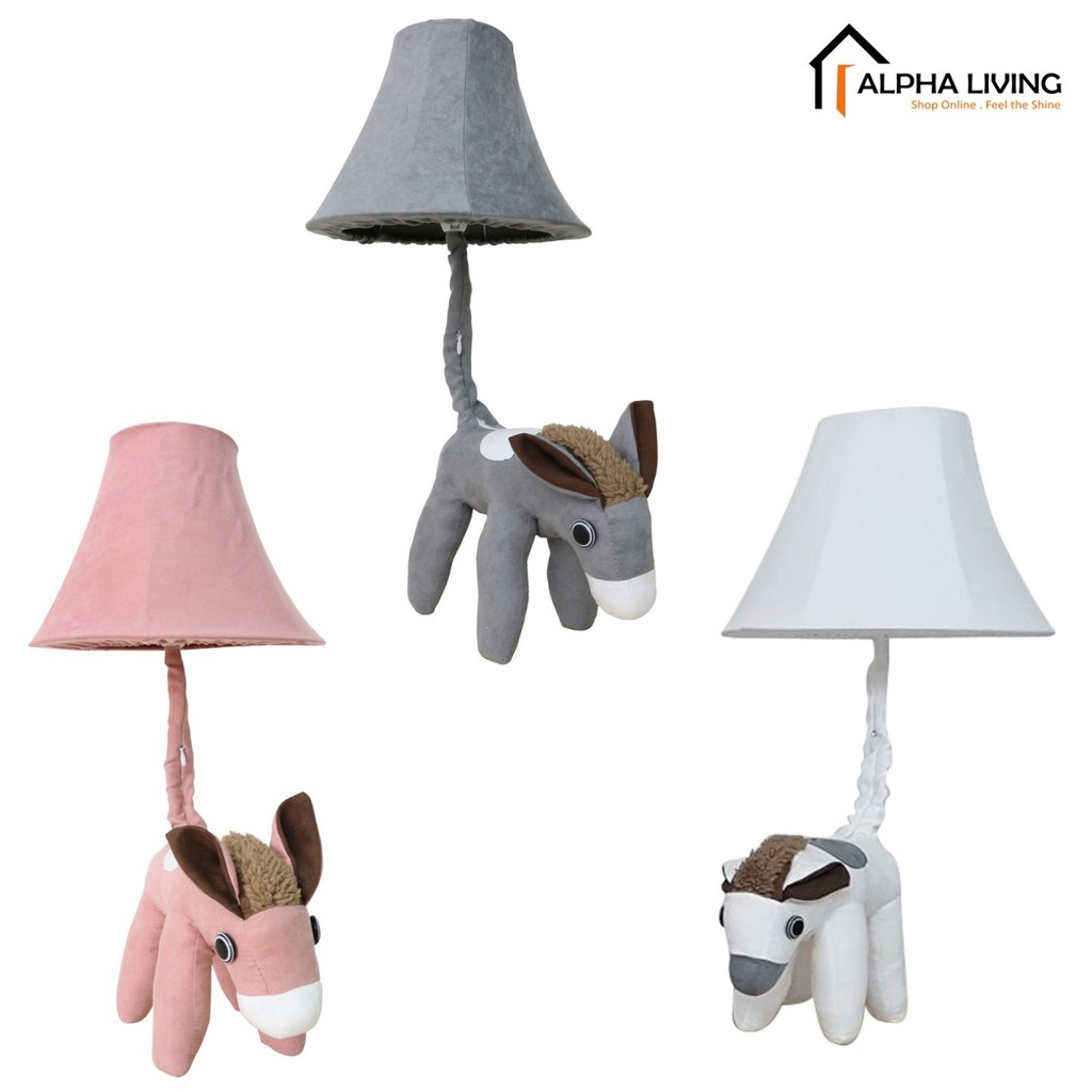 Cottage Lovely Creative Cartoon Fabric Donkey Led Table Lamp (LGT0011)