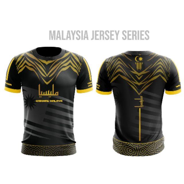 Baju Jersey Harimau Malaya Microfiber Iterlock Sublimation T Shirt