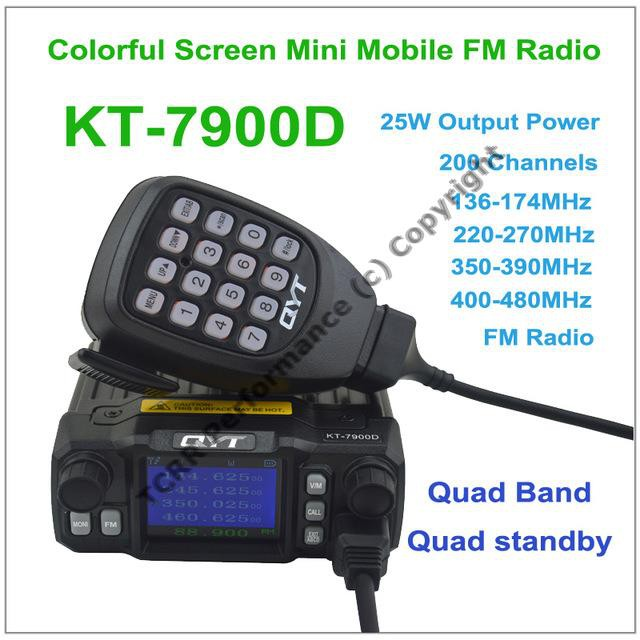 Dual Band VHF/UHF Transceiver 25W QYT KT-8900 Car/ Trunk Mobile Radio