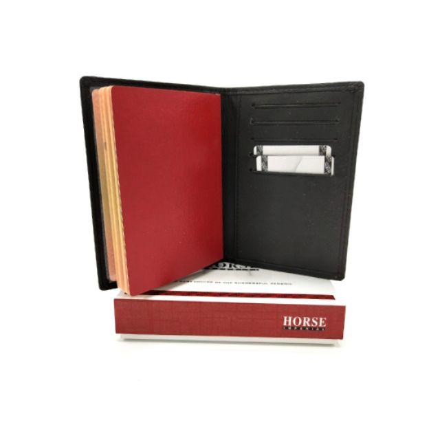 ORIGINAL Imperial Horse Genuine Leather Passport Holder Cover Card Slim Wallet