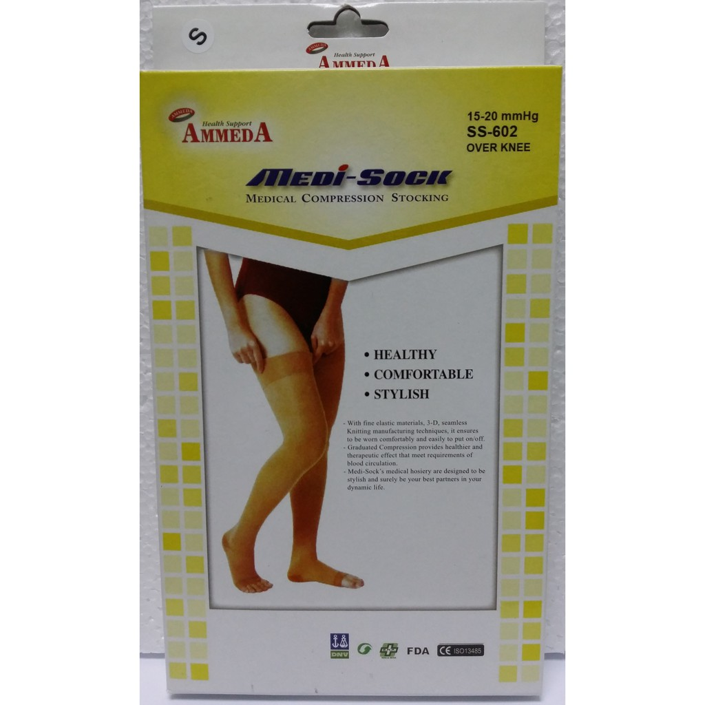 c32fca7e8f Ammeda Medi-Sock Medical Compression Stocking (Over Knee) (1 Pair) [S, M,  L, XL] | Shopee Malaysia