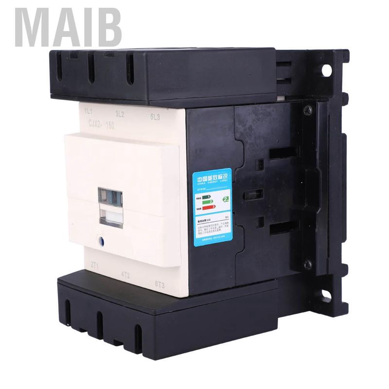 220VAC 50//60Hz 150A Contactor Timer,CJX2-150 Electric AC Contactor Household AC Contactor for Motor Control and Protection for Remote Receiving Circuits,Controlling AC Motors