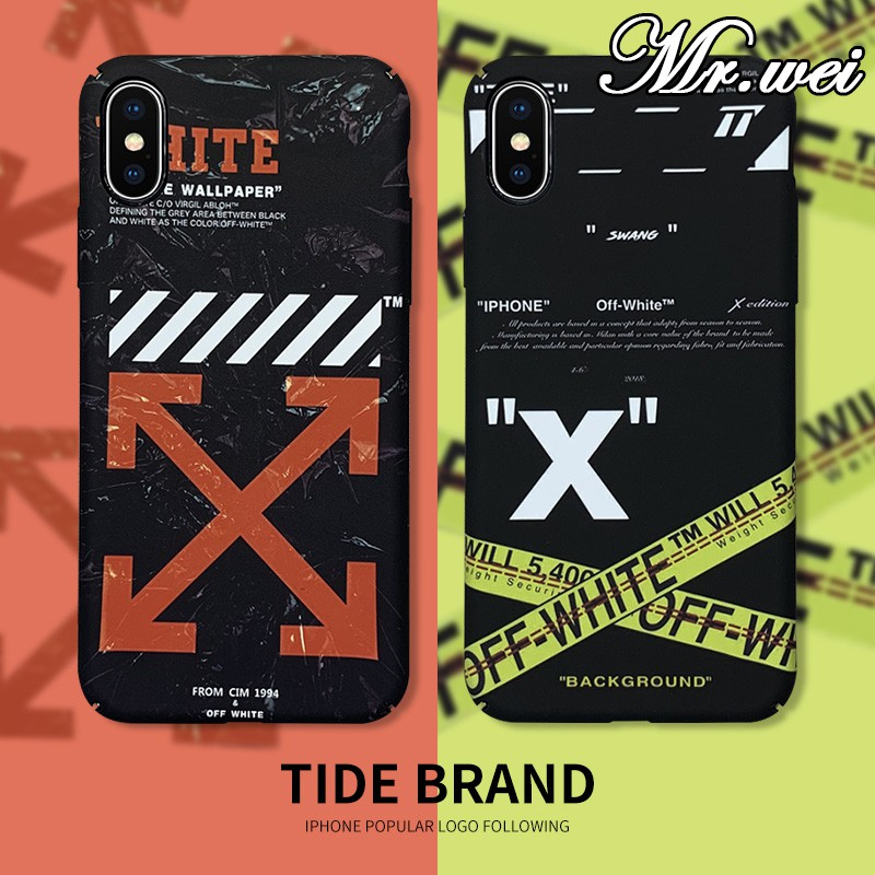 Off White Tide Brand Glow In The Dark Case Iphone X 7 8 6 Plus Xsmax