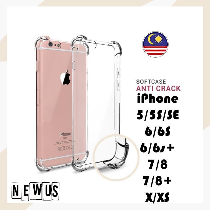 Anti Crack Soft Silicone Iphone 5/ 5S/SE / 6 / 6PLUS / 7 / 7PLUS / 8 /  8PLUS / X / XS / XS Max