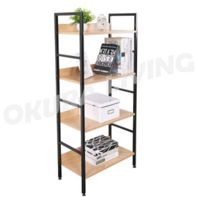 OKURA 4 Tier Multipurpose Book Shelf Home Office