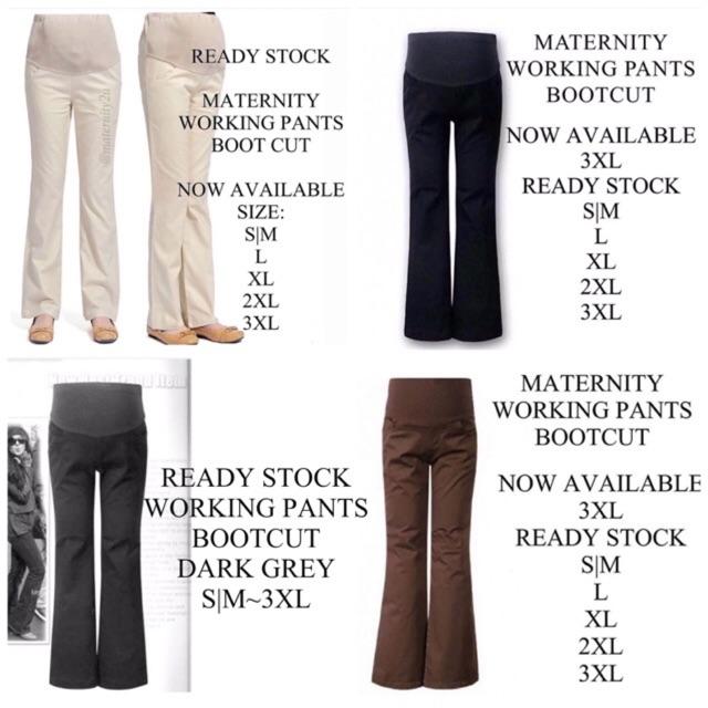 56ff5cf51bf88 Maternity Pants - Side Line Black | Shopee Malaysia