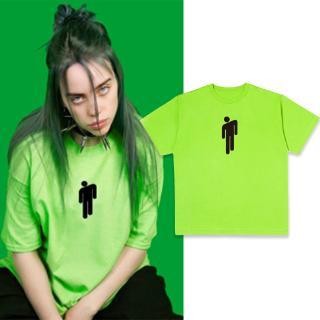 Billie Eilish Yellow Green Graphic T Shirt Streetwear Women Harajuku Gothic Tops Shopee Malaysia