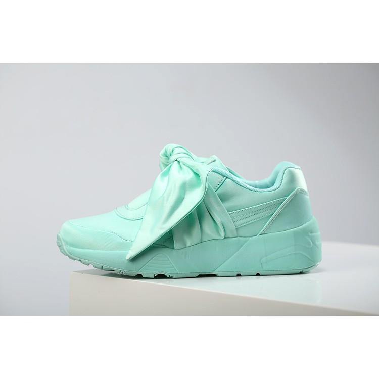 new style b2c7c 5de60 Puma X Fenty Rihanna Bow Ribbon Silk Mint Green Running Shoes 35 - 40