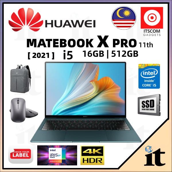 Huawei Matebook X Pro 2021 i5 2021 (16GB RAM+512 SSD) 2 Years Warranty + FREE GIFT