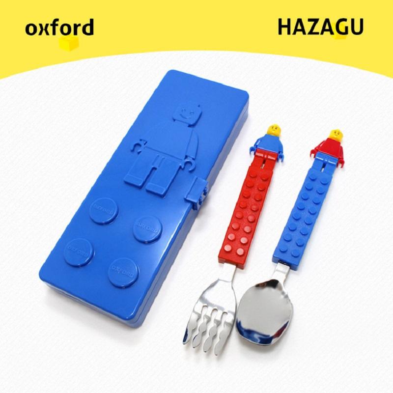 Fork Case set flatware dinnerware// Toddler kids Oxford Bricks Block Spoon