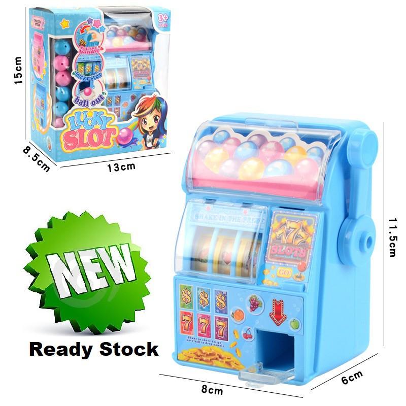 [ READY STOCK ]  Mini Handheld Lucky Toy Simulation Lottery Machine Kid Rocker Rolling Toy Baby Mainan Jualan Murah Raya