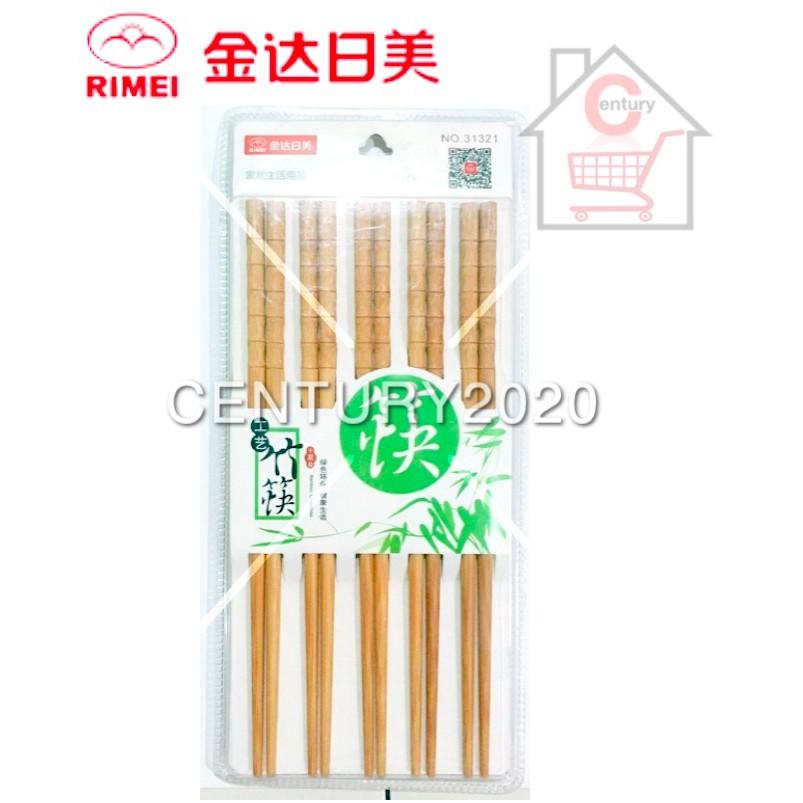 RIMEI Chopsticks Plain Painted Printing Bamboo Chopstick Printing 10 Pairs 31321
