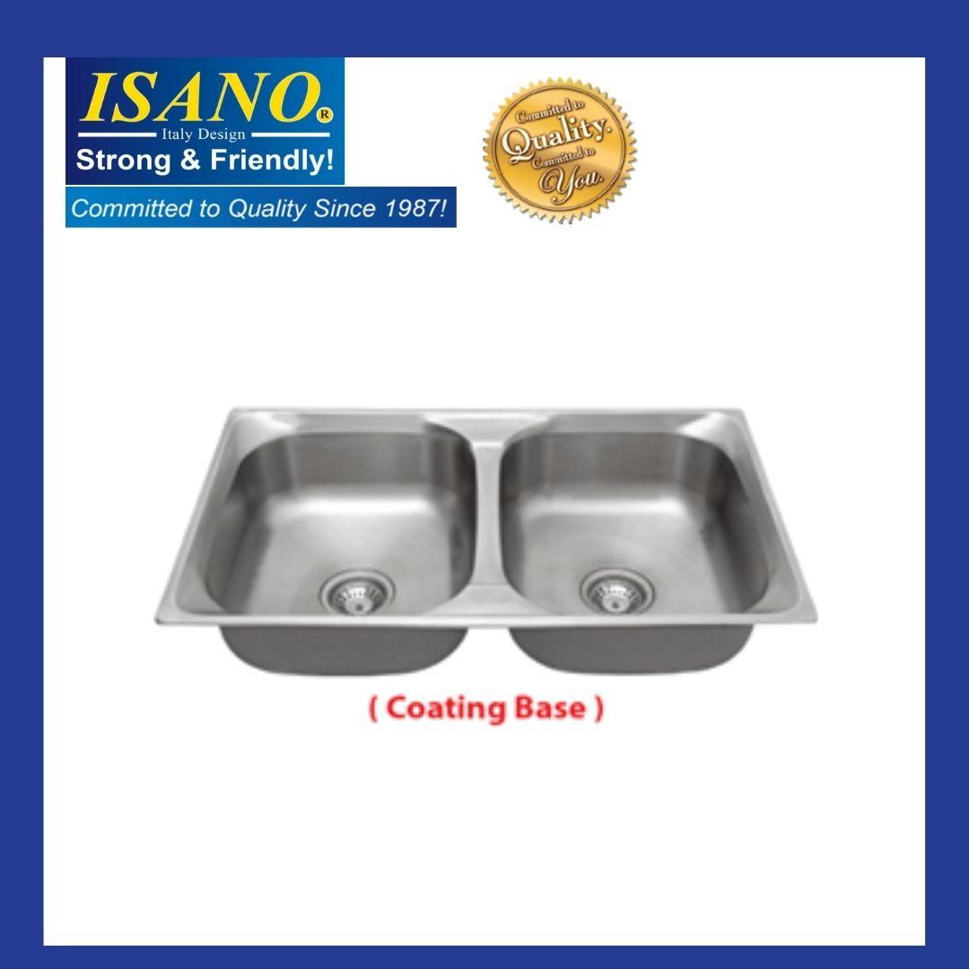 ISANO B8421 Stainless Steel Kitchen Sink Bowl Basin Drainer