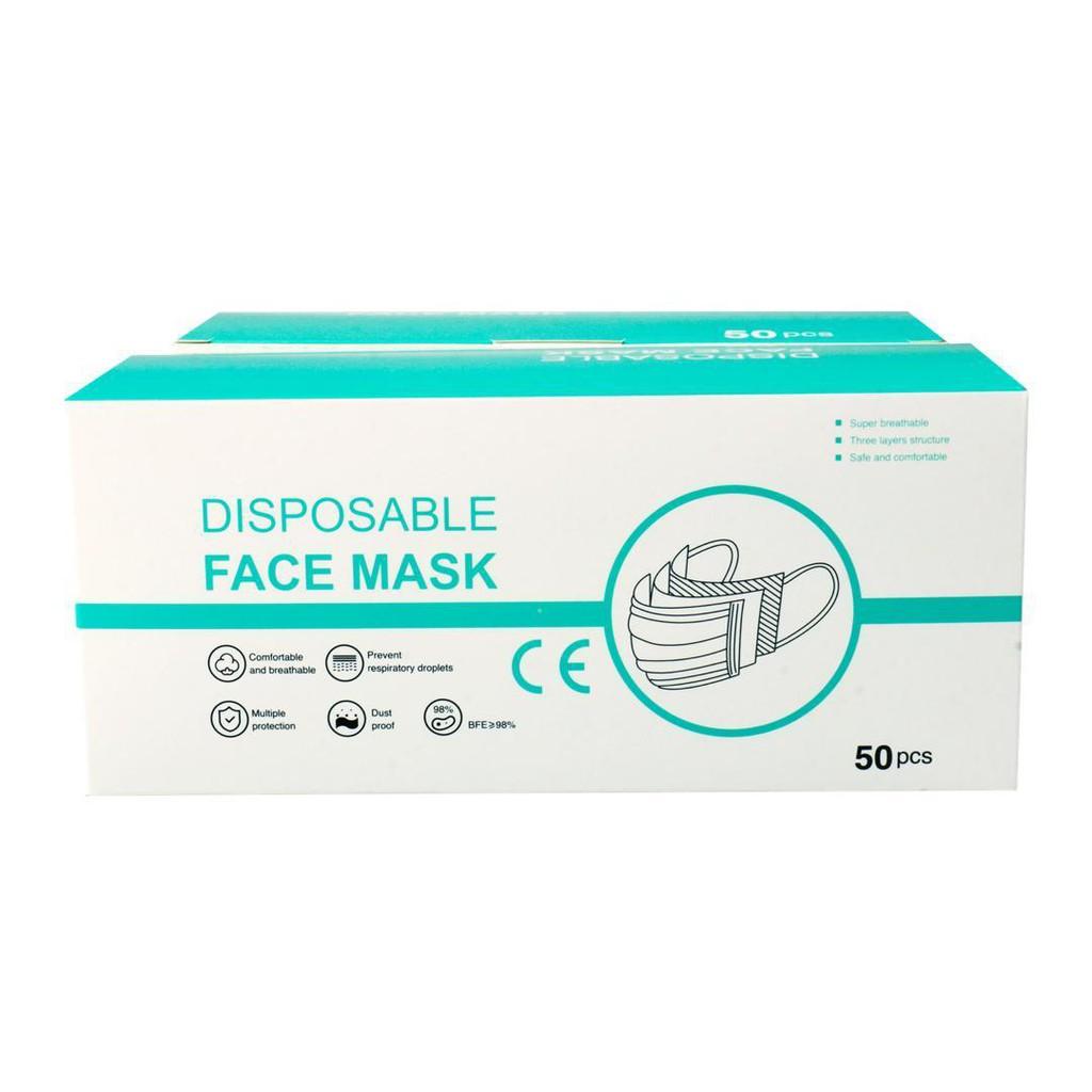 3ply Disposable Face Mask Ear Loop (50 pcs per box)
