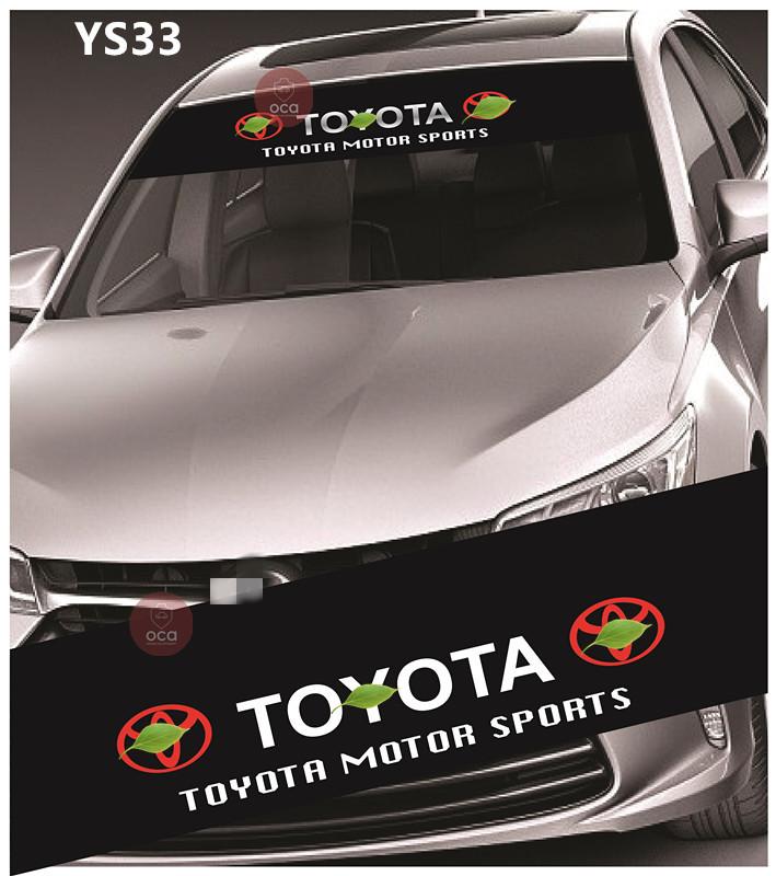 Universal Car Windscreen Sticker Front Or Rear Windscreen Windshield 10inch X 52inch YS28 - YS36