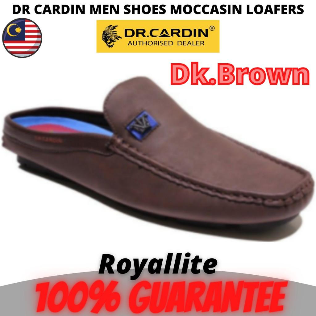 Dr Cardin Men Faux Leather Comfort Slip-On Moccasin Shoe (AMV-60850) Black & Dk.Brown