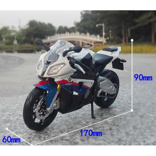 Bmw S1000 RR White Motorcycle 1:12 Model MAISTO