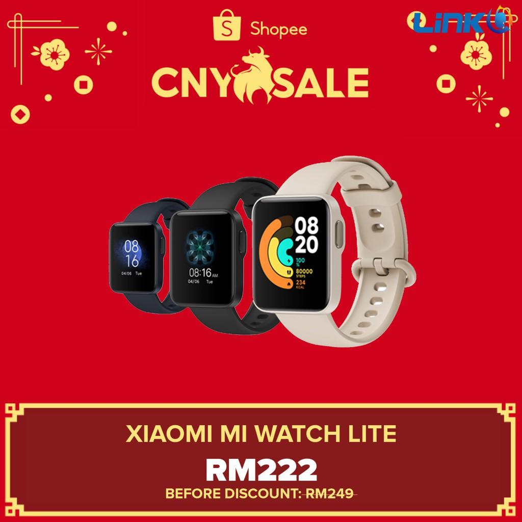 [READY STOCK] Xiaomi Mi Watch Lite Smartwatch - Original 1 Year Warranty by Xiaomi Malaysia (MY SET)