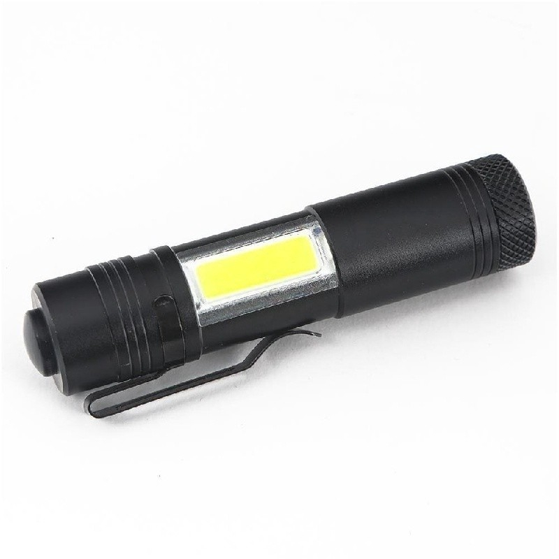 5X Portable Ultra WTight 3W Police Waterproof LED Mini Flashlight Torch Black WT