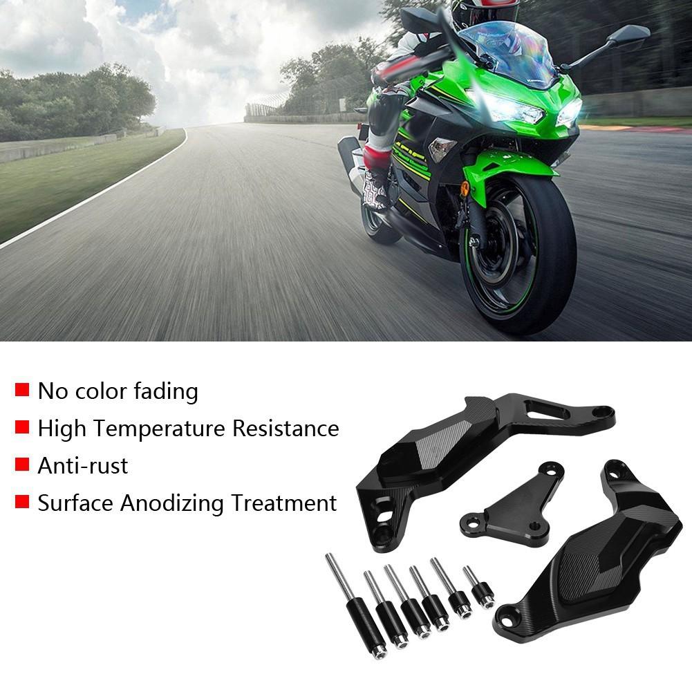 Motorbike Engine Guard Cover Crash Pad Frame Sliders Protector For Kawasaki Ninja 400 2017-2018 Red