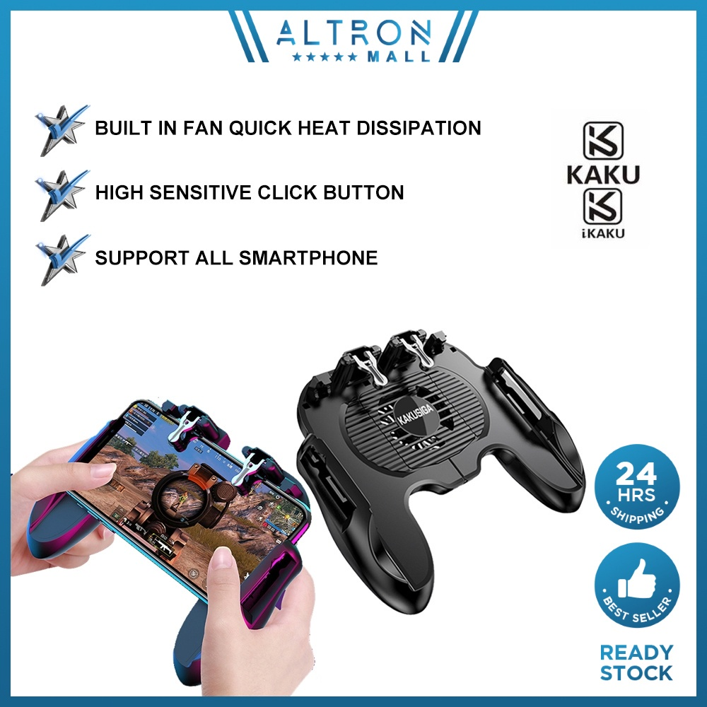 IKAKU KAKU YUHUI Mobile Trigger Gamepad L1R1 Controller PUBG High Sensitive Fan Blades Heat Reduce Gaming Smartphone
