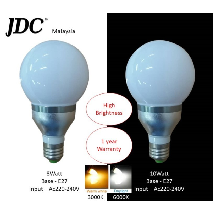 Jdc Led High Brightness Quality Bulb Ready Stock In Malaysia Shopee Malaysia