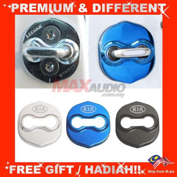 KIA CERATO K3 OPTIMA K5 FORTE PICANTO SPORAGE Premium Chrome Alloy Door Lock Protection Cover (4pcs/Set)