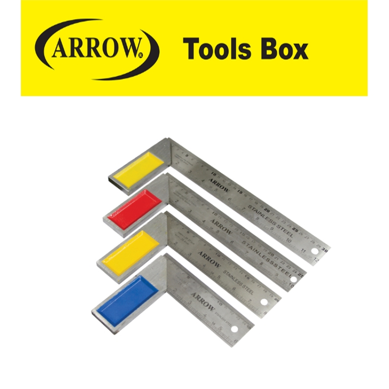 READY STOCK!!ARROW  HEAVY DUTY TRY SQUARE EASY USE SAFETY GOOD QUALITY MUDAH