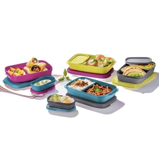 READY Tupperware (Full Set : 8 pcs) Foodie Buddy Lunch Box