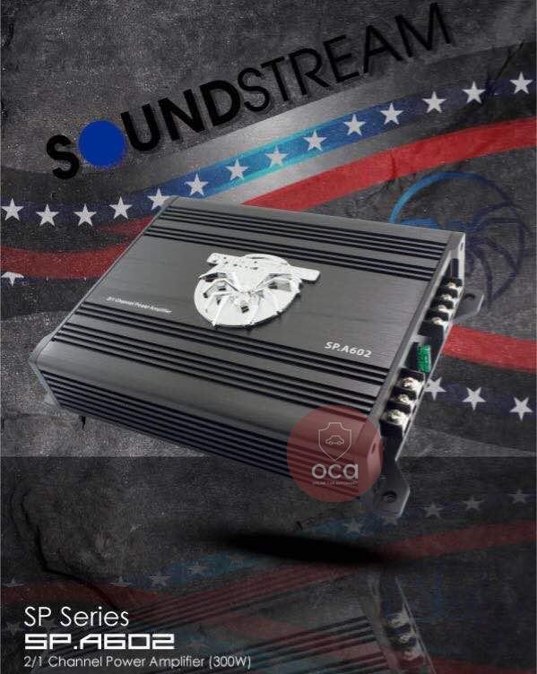 SOUNDSTREAM 2 Channel 300W Car Amplifier 60W RMS x 2 (4 ohms) SP.A602