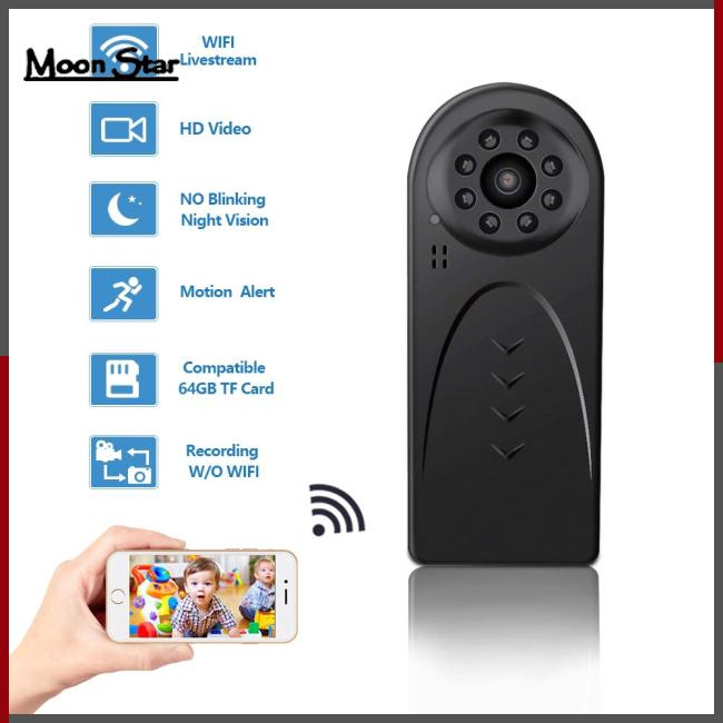 Mini WiFi Camera Wireless HD 1080P Camera for Home Office Security with  Night