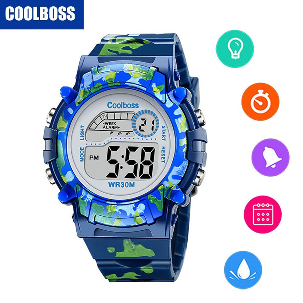 Children's Watches Delicious Synoke Childrens Electronic Watch Back Light Alarm Clock Waterproof Multi Function Gift Kids Watches Age Girl Top Band Strap