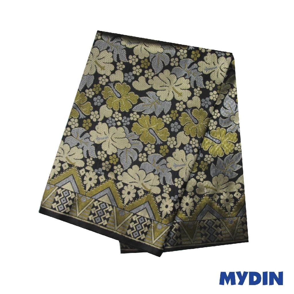 "Men Sampin - Light Blue On Black with Designs (2.25m X 36"") 0819PECDD01 #Raya"