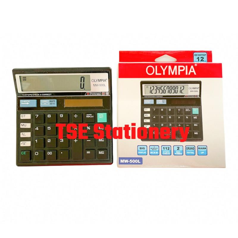 *Original* Olympia Calculator MW500L (12 Digits) MW-500L MW 500 L 112 Steps
