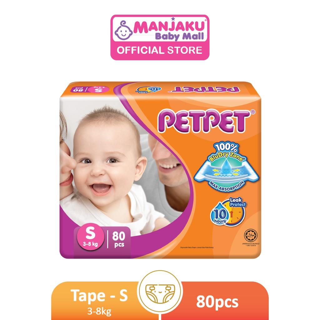 Petpet Tape Diaper Mega Pack (New) - S/M/L/XL