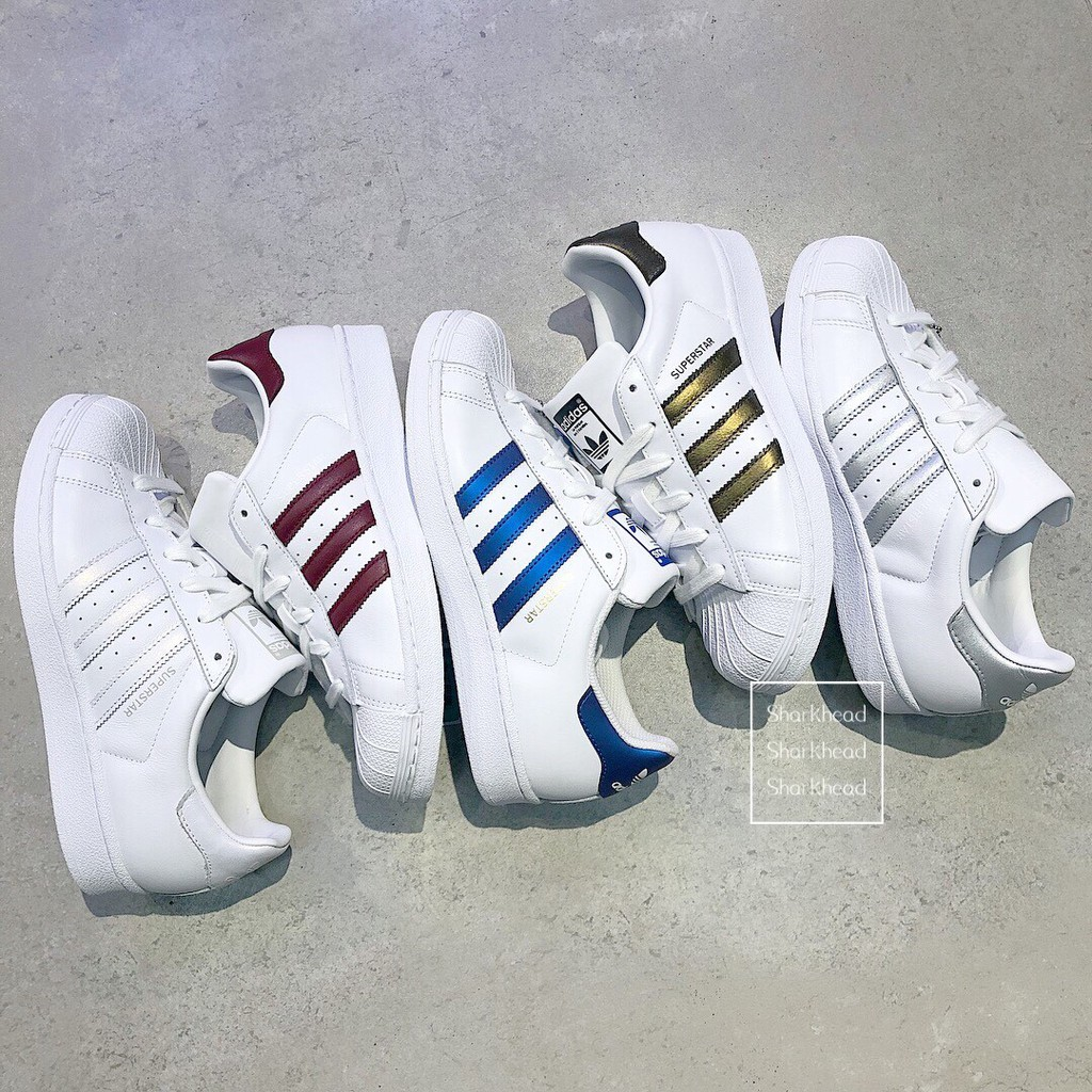 asiatico manica Tuttavia  sharkhead) Adidas Superstar Gold Standard Laser D 98000 D 97999 Dark Red  Blue Silver | Shopee Malaysia