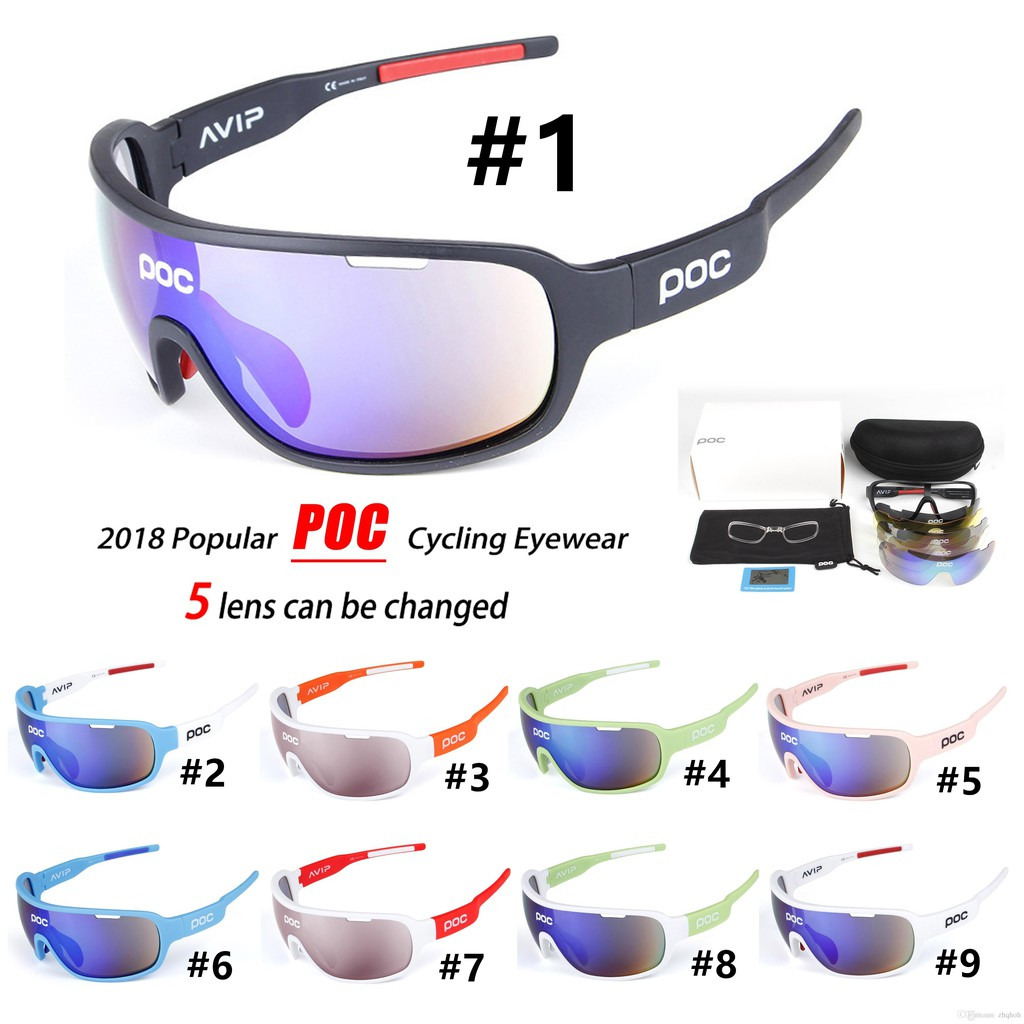 e33075e48d POC Sports Eyewear Glasses Womens Wind Proof Cycling Sunglasses with 5  Lenses