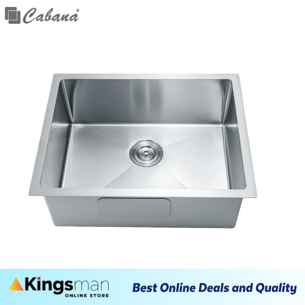 [Kingsman] Cabana Undermount Stainless Steel Home Living Kitchen Sink Single Bowl Ready Stock - CKS6306A