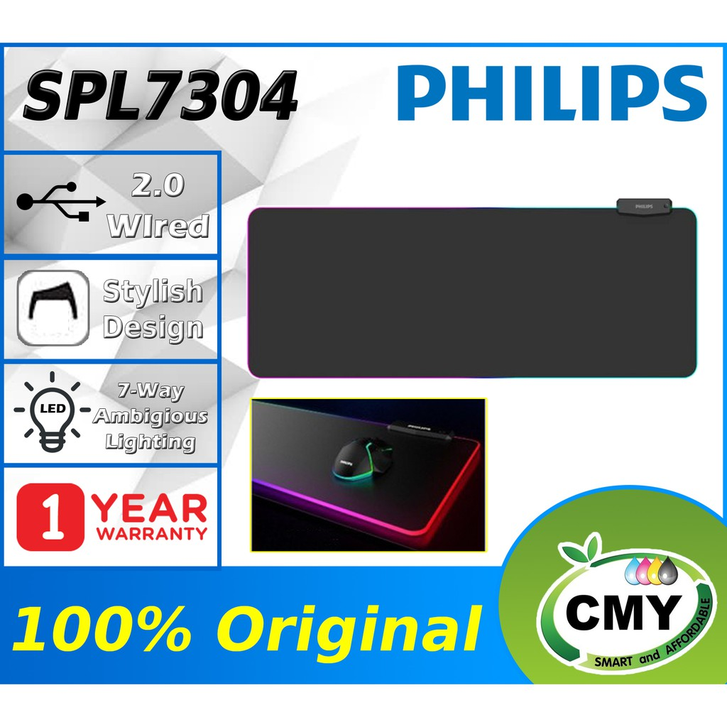 PHILIPS L304 SPL7304 Original Large Size Gaming Mouse Game Pad (80 x 30cm) with RGB Light