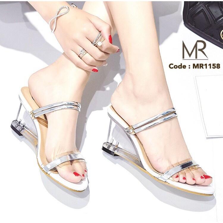 Meritshoes รองเท้าส้นแก้วใส่ได้2แบบ115