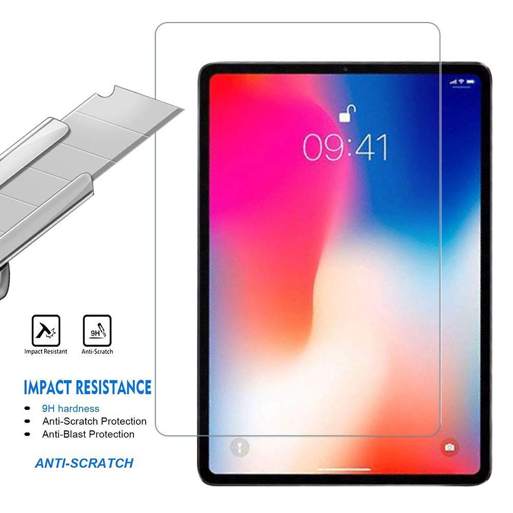 2Pcs Apple iPad Pro 12.9 Tempered Glass Screen Protector Clear Protective Film