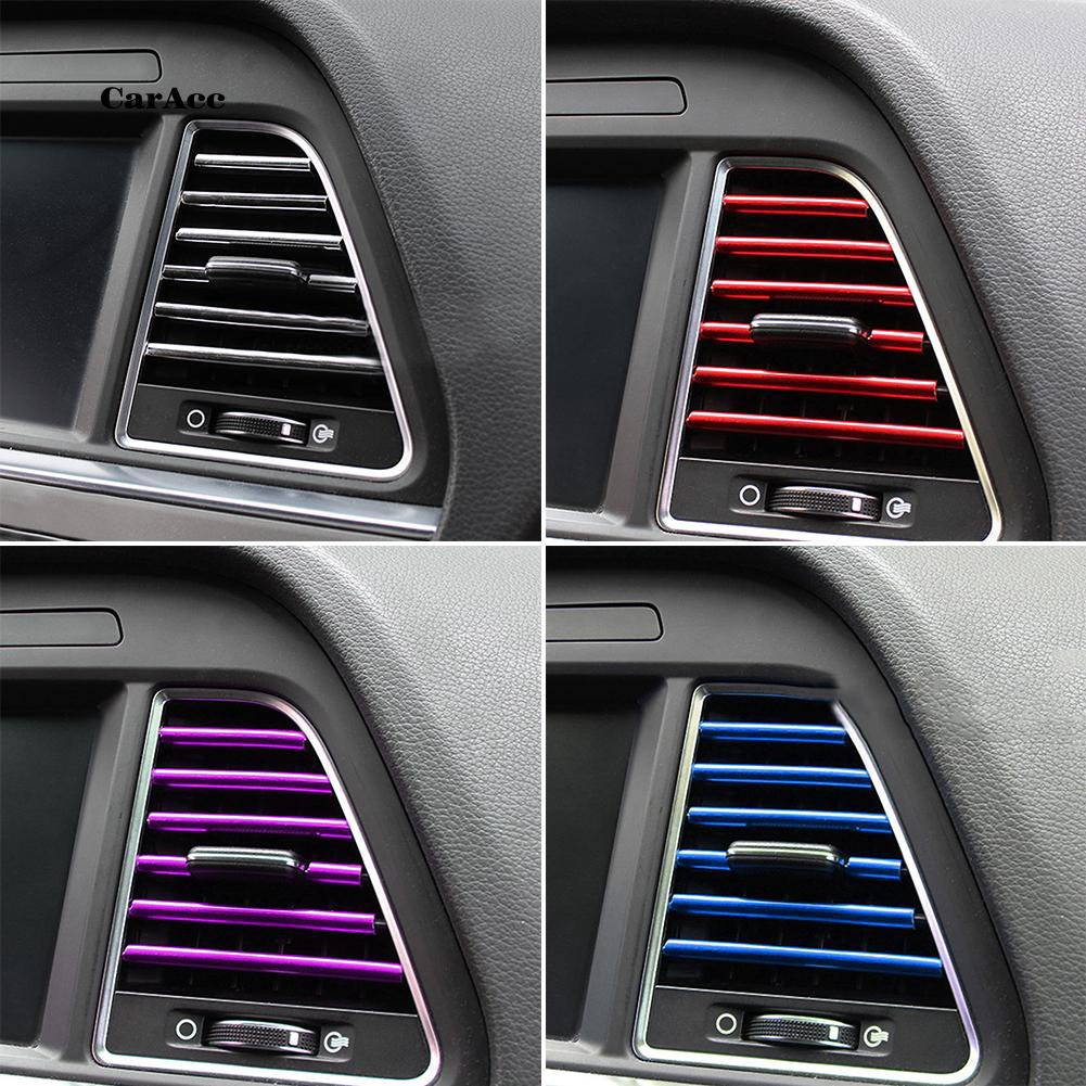 CARA_10Pcs Car Auto Air Outlet Vent Interior Decorative Stickers Decals  Strip car accessories