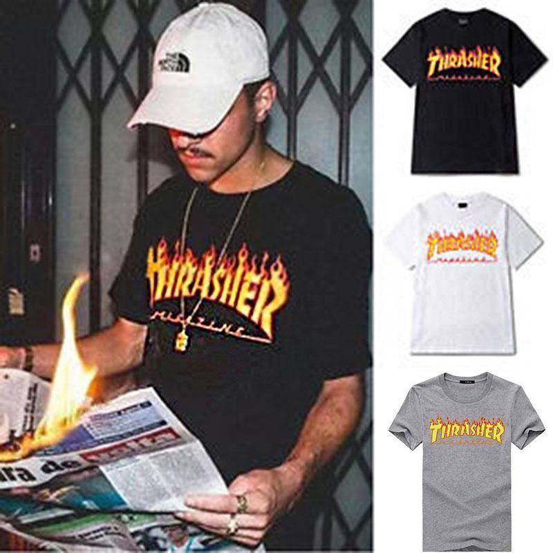 THRASHER SKATEBOARDING MAGAZINE Logo T-Shirt Tee Custom  MEN//WOMEN 100/% COTTON