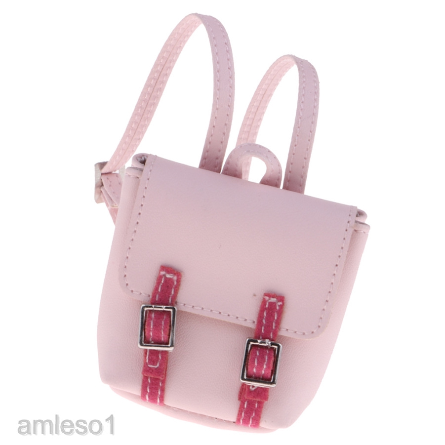 1:6 Dollhouse PU leather handbag bag satchel tote for dollhous DR