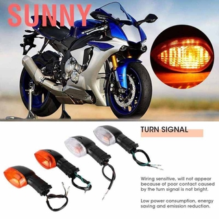 Black Gorgeri Turn Signal Blinker Lights 2PCS Turn Signal Light Lamp Fit For Para Ninja 250 Motorcycle Modification