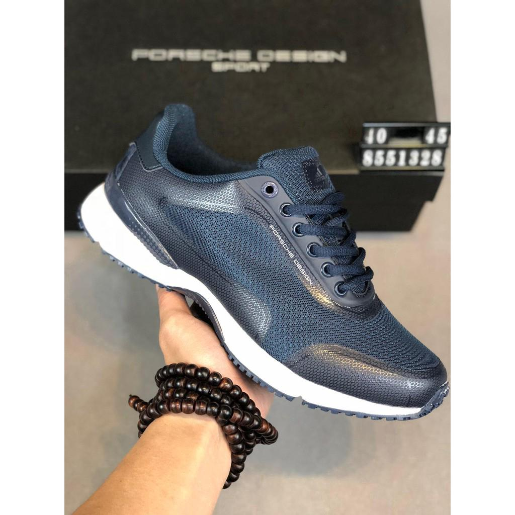 Los Angeles fe248 0889c Adidas Porsche Design Blue High Frequency Mesh Running Shoes