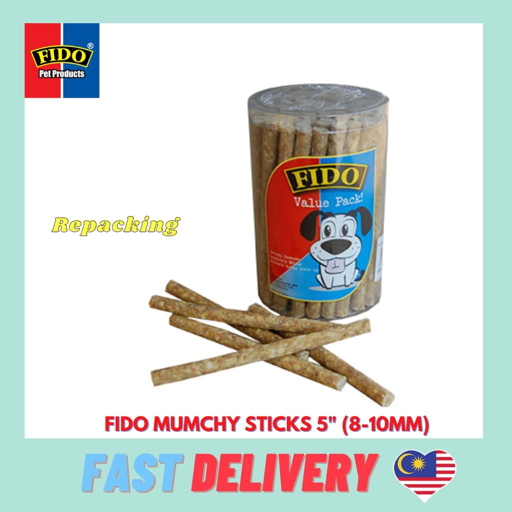 "FIDO Munchy Stick Dog Treat Snack Food  5"" (8-10Mm) (Repackaging)"