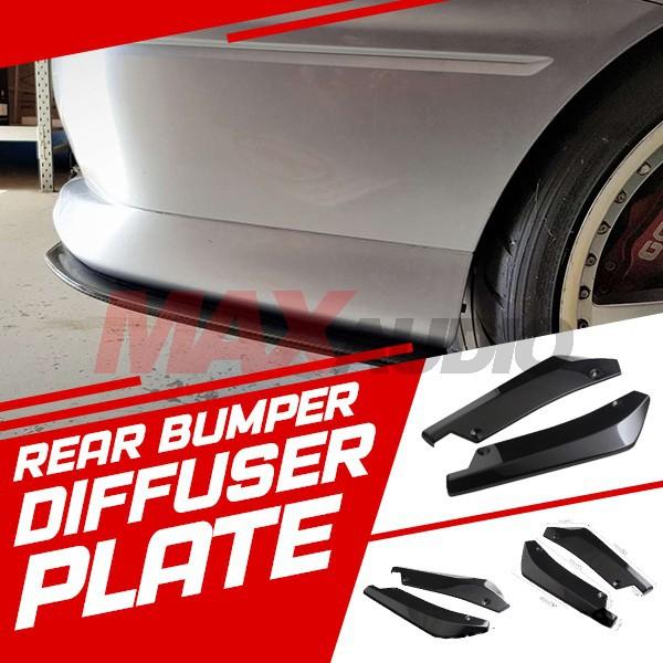 [FREE Gift] Car Bumper Side Skirt Spoiler Rear Lip Angle Splitter Diffuser Plate Anti-crash (Pair)