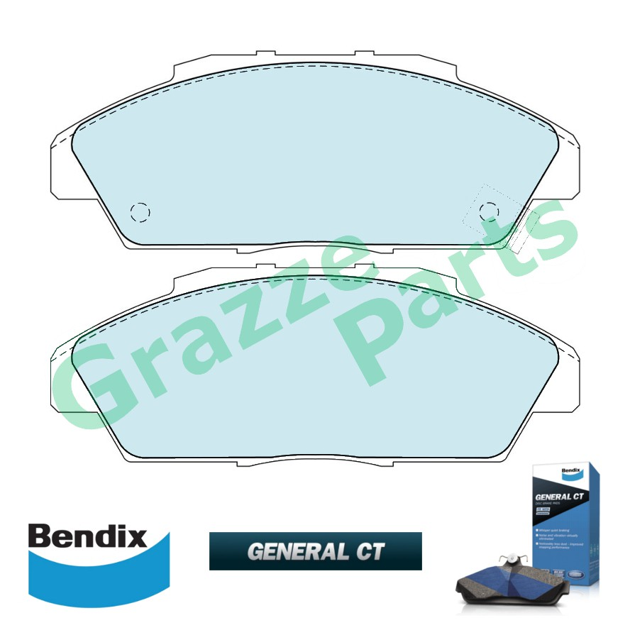 Bendix General CT Disc Brake Pad Front for DB1172 Honda Accord SM4 1993-1995